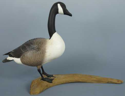 Robert & Virginia Warfield hand carved and painted Canada Goose