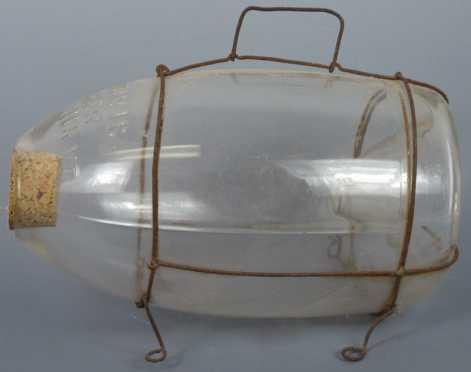 "Vintage ""C.F. Orvis, Maker, Manchester, VT,"" glass minnow trap"