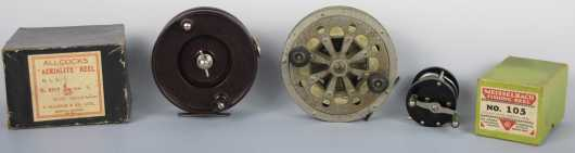 Lot of 3 fishing reels (two in original boxes)