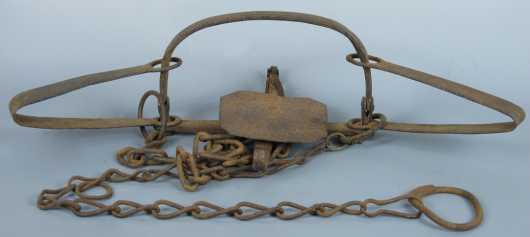 19th Century Hand Wrought - Iron Trap