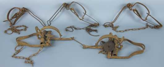 Lot of Five Vintage Victor, Stop Loss Trap