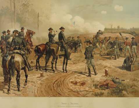 "Set of Three, ""L. Prang & Company, Boston,"" Civil War Chromolithographs"