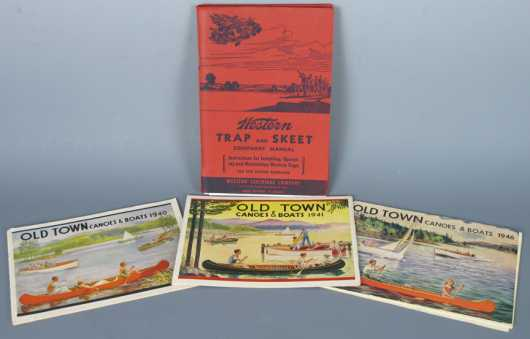 """Lot of Three """"Old Town Canoes & Boats,"""" Catalogs from the 1940's"""
