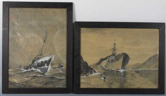 Watercolors by Geroge Albert Coffin