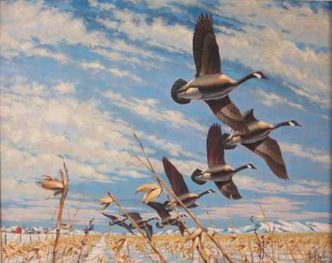 Painting by Leslie Kouba