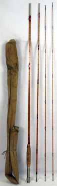 Bamboo fishing rod by  H. L. Leonard