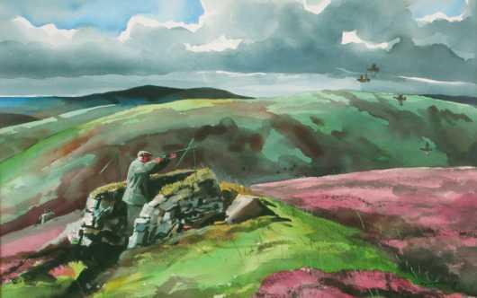 "Chet Reneson watercolor ""The Moors of Scotland"""