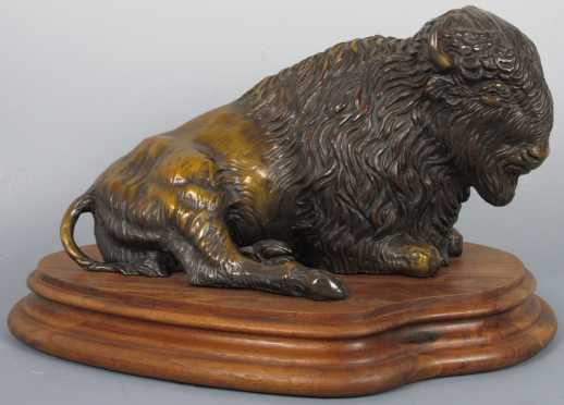 "Bronze by Stephen LeBlanc, ""Monarch of the Plains"""