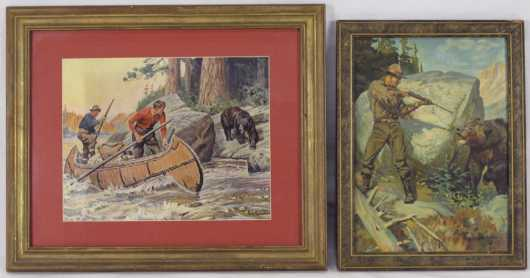 Lot of 2 prints by Philip R. Goodwin