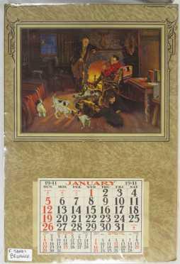 Vintage Calendar with an F. Sands Brunner Print