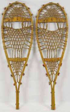 Native American made snowshoes