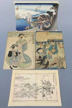Group of Four Japanese Wood Block Prints