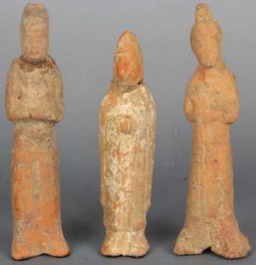 Lot of Three Early Chinese Tomb Statues
