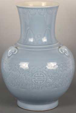 Large Claire De Lune Glaze Elephant Vase