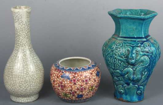 Lot of Three Chinese Porcelain Pieces