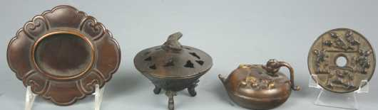 Four Japanese Metal Items