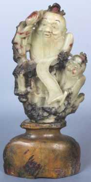 Chinese Soapstone Statuette