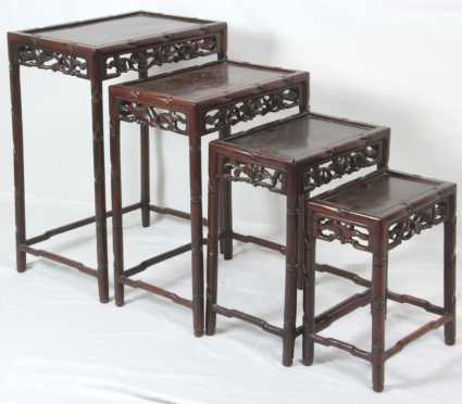 Chinese Nest of Four Tables