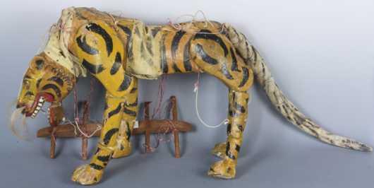 Antique Thailand/Burma Tiger Marionette