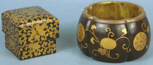 Japanese Lacquer-ware, 2 pieces