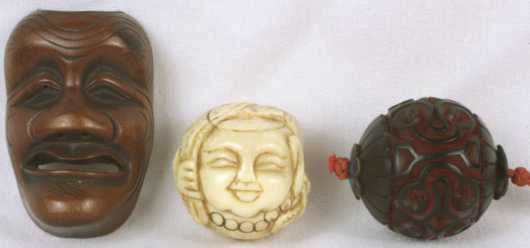 Three Japanese Carved Objects