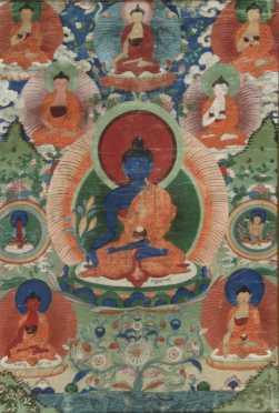 Tibetan Thangkas Painting of Buddha