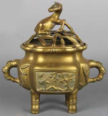 Chinese Brass Censer