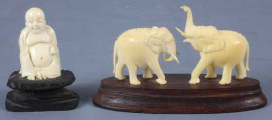Two Miniature Asian Ivory Carvings