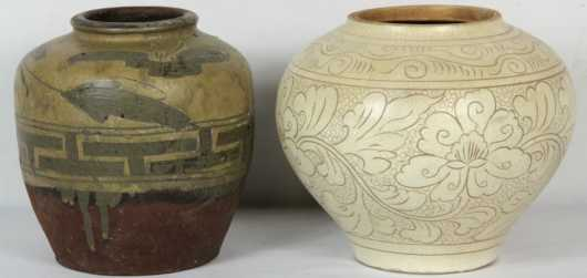 Two Asian Pottery Jars