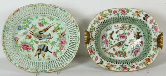 Chinese Famille rose Fruit Basket