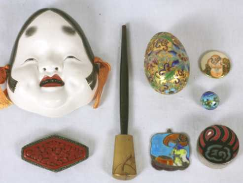 Lot of Seven Asian Objects