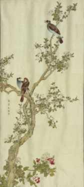 Chinese Needlework on Silk