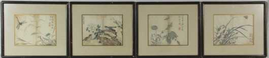 Group of Four Oriental Block Prints