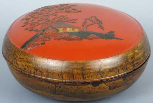 Japanese Lacquer and Wood Box