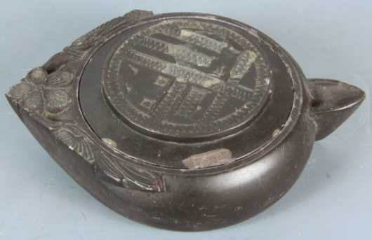 Chinese Carved Black Stone Vessel,