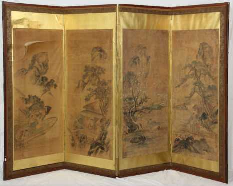 Chinese Four Part Screen