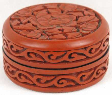 Round Red Lacquer Box
