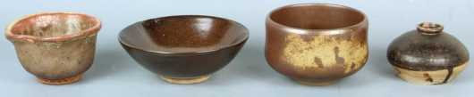 Lot of 4 Japanese Pottery items