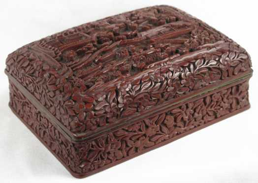 Chinese Carved Lacquer Box