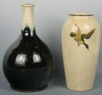 Two Japanese Pottery Pieces