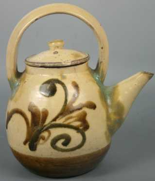 Japanese Seto Wine Pot
