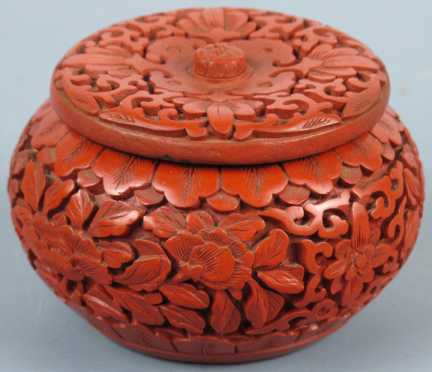 Chinese Carved Red Lacquer Box