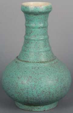 Chinese Vase With Robin's Egg Glaze