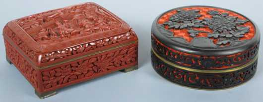 Two Chinese Carved Boxes