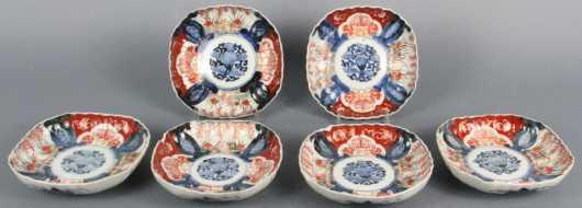 Set of Six Japanese Imari Dishes