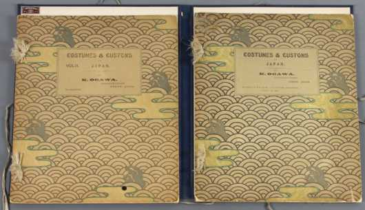 Costumes and Customs in Japan, two volume set of photographs by K. Ogawa