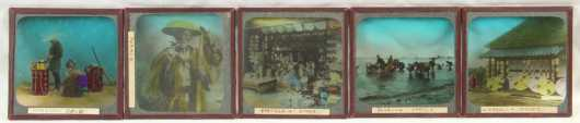 Collection of Fifty Japanese Magic Lantern Slides