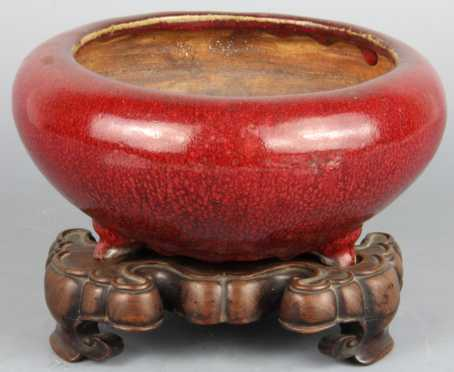 Chinese Langyao Glazed Footed Censer