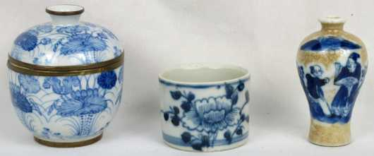 Lot of Three Chinese Porcelain Items