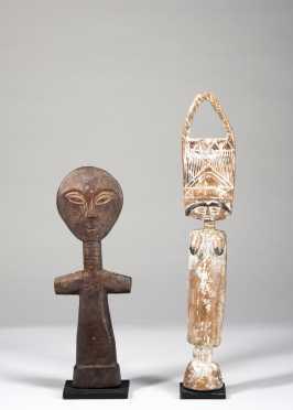 Two Ghanaian fertility dolls
